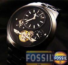 FOSSIL MEN'S TWIST SKELETON COLLECTION BLACK TOP WATCH ME1131