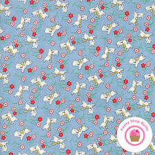 Moda 30's PLAYTIME 2017 Blue Dogs 33211 18 Chloe's  QUILT FABRIC Reproduction