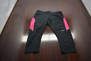 Nike Running Capri Leggings Dri Fit Athletic Compression Yoga Womens Size Small