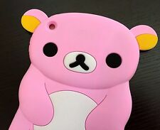 For Apple iPad Mini 1/2/3 Gen - SOFT RUBBER SILICONE SKIN CASE COVER PINK BEAR