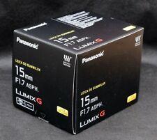 Panasonic H-X015 LEICA DG SUMMILUX 15mm F/1.7 ASPH LUMIX G Lens