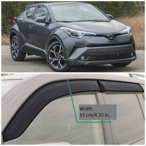TE212618 Window Visors Sun Guard Vent Wide Deflectors For Toyota C-HR 2018-