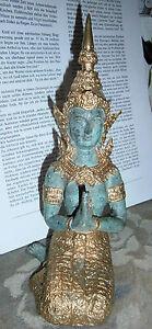 Figure Indische Göttin aus Messing