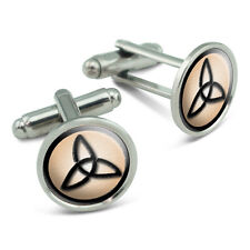 Celtic Trinity Knot Basic Irish Men's Cufflinks Cuff Links Set
