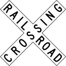 RAILROAD CROSSBUCK RAIL ROAD SIGN REAL 3M REFLECTIVE METAL - LEGAL - 48 x 9