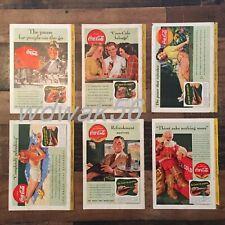 1941 COMPLETE Set of 6 NATIONAL GEOGRAPHIC MAGAZINE COCA-COLA COKE ADS