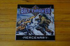 BOLT THROWER - MERCENARY (RARE BRITISH HEAVY METAL DEATH METAL VINYL) GREAT COND
