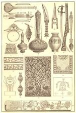 INDIAN ART. Music Pendant Spearhead Dagger Khuttar Matchlock Jagganath 1907