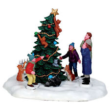 Lemax Decoration Christmas Catastrophe Cat Cake Decorating Figure,Cats with Tree