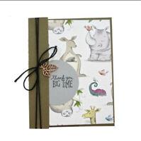 Stanzschablone Nashorn Giraffe Tier Weihnachten Geburtstag Hochzeit Karte Album