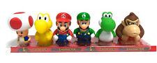 "6pcs Super Mario Brothers Figures Toad Yoshi Donkey Kong Small Set 8cm 3"""