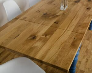 Extending Oak Modern Farmhouse Kitchen Dining Table All Size/Colours