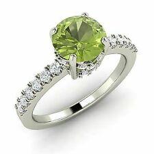 Certified Diamond Engagement Ring 1.38 Ctw 14k White Gold