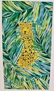 "Mainstays Beach Towel 34"" x 64"" pink mermaid or yellow jaguar"