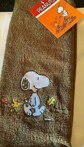 Peanuts Snoopy Brown Hand Towel C-1