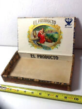 Vintage EL PRODUCTO WOOD Cigar Box Good Condition & Graphics