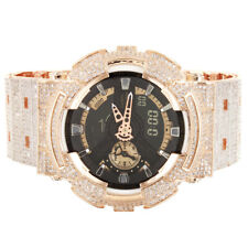 Men's G-Shock GA110RG Custom Band Bezel Rose Gold Finish Casio Watch