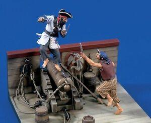Verlinden 54mm (1/32) Fighting Pirates (2 Figures) (Gun Deck not included) 1524