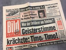 Bildzeitung 25. Februar 1964 BILD Zeitung 25.02.1964  54. 56. 57. 58. Geburtstag