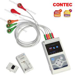 TLC9803 Dynamic ECG Holter 24 Hour Recorder/Analyzer 3 Channels EKG,PC Software