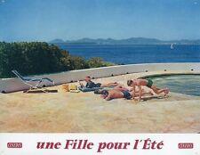 PASCALE PETIT MICHEL AUCLAIR UNE FILLE POUR L'ÉTÉ 1960 VINTAGE LOBBY CARD #3