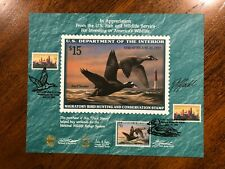 Rw 63 1996 $15.00 Surf Scoter Duck Canceled Souvenir Card
