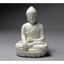 Porzellanfigur Buddha Tathagata Bodhisattva Porzellan Figur weiß 22 cm Höhe