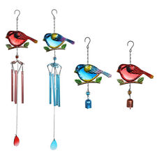 New listing Portable Metal Glass Decor Wind Chimes Cute Bird Wind Chimes Hanging B Hs