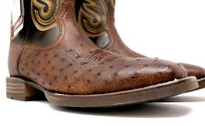 Ariat Men's Promoter Smooth Quill Ostrich Western Boot Wide Square Toe 10029775