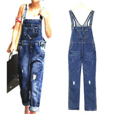 Womens Casual Denim Jeans Jumpsuit Romper Dungarees Playsuit Trousers Overalls
