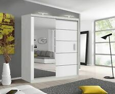 Lyon Modern Bedroom Sliding Door Wardrobe With 2 LED's