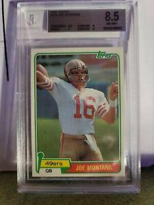 Topps 1981 Joe Montana San Francisco 49ers RC #216 Hott HOF Rookie Bgs 8.5