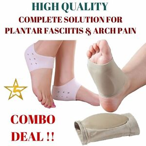 COMBO DEAL Plantar Fasciitis ARCH Support Cushion Foot Pain Heel Insole Orthotic