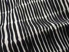 Marimekko linen fabric, black and off white for dresses etc., BEAUTIFUL!
