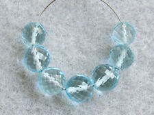 5mm. Natural Blue Topaz Faceted Round Ball Gemstone Beads