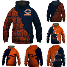 Chicago Bears Football Hoodie Sweatshirt Hooded Unisex Pullover Fans Jacket Coat