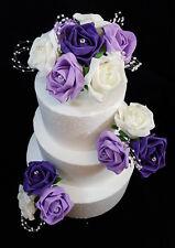 Wedding Anniversary Birthday Cake Topper/Set Ivory Lilac Cadbury's Purple Rose