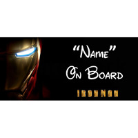 Marvel Ironman Personalised Baby On Board Car Sign (3)