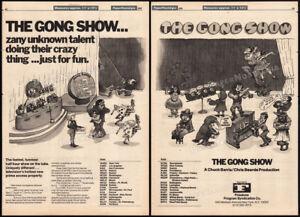 THE GONG SHOW__Original 1976 Trade AD promo / poster__Chuck Barris__Gary Owens