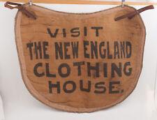 Visit the New England Clothing House Vintage Burlap Apron Antique (H3R)