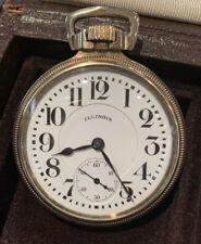 Railroad Pocket Watch 16s Of 21 Jewel Illinois Bunn Special