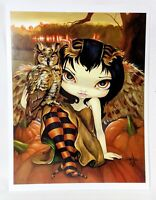 """Owlyn in Autumn"" Strangeling Jasmine Becket-Griffith Art Print SIGNED 8"" x 10"""