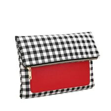 Aitbags Women's Large Travel Wallet Evening Party Bag Clutch Red Foldable Purse