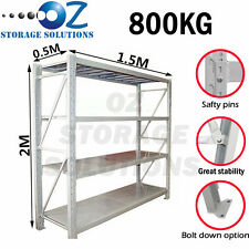 Garage Shelving Longspan Shelving Warehouse Metal Steel Rack 2M x 1.5M x 0.5M