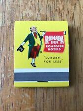 Ramada Inn Roadside Hotels Vintage Matchbook Travel Souvenir