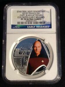 Star Trek:Next Generation 2015P Tuvali S$1  Capt. Jean-Luc Picard Colorized PF70
