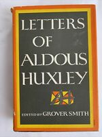 Letters of Aldous Huxley, First U.S. Edition, 1969, w DJ, English Social History