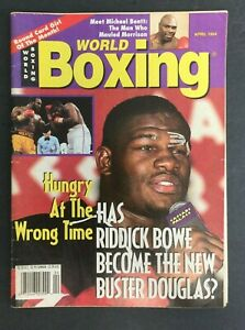 1994 APRIL* WORLD * BOXING MAGAZINE BOWE BENTT FOREMAN  CHAVEZ   FREE S&H 9621