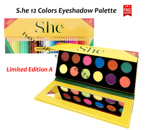 S.he 12 Colors Eyeshadow Palette - Limited Edition A