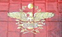 Fahne SPQR Banner Flagge Legionär Rom Adler Flag